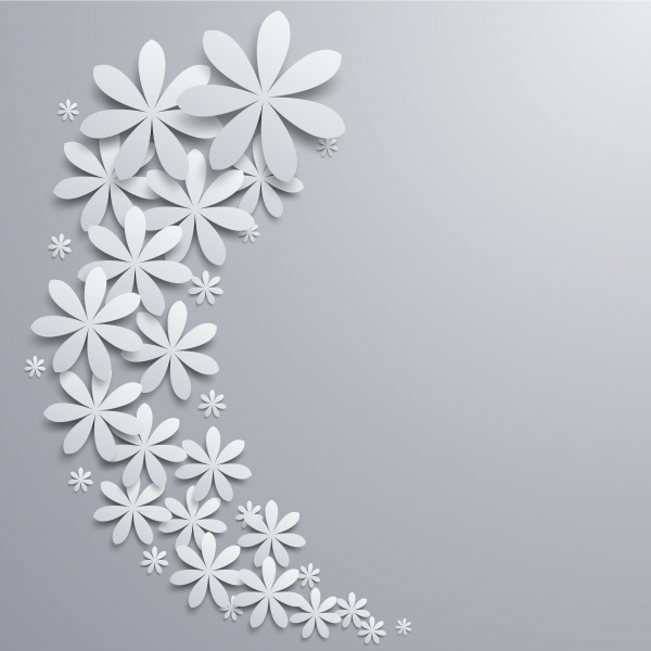 Backgrounds and borders with white floral ornament #2 (24 файлов)