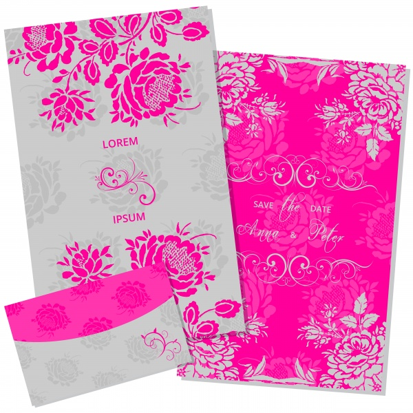Floral Invitation Templates Vector (12 файлов)