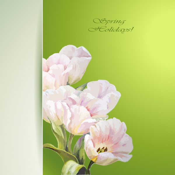 Flowers Backgrounds. Spring flowers invitation template card #3 (18 файлов)
