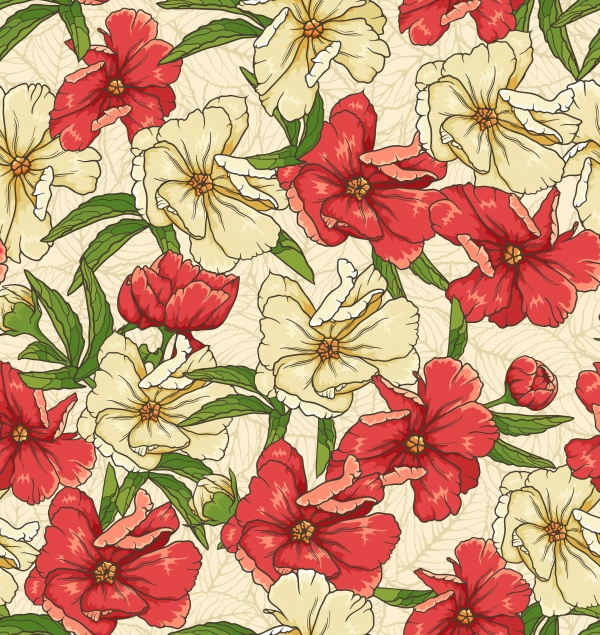 Яркие цветочные паттерны (12 файлов)