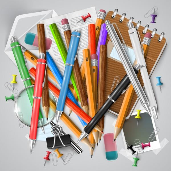Офис и школа - шаблоны для дизайна (19 файлов)