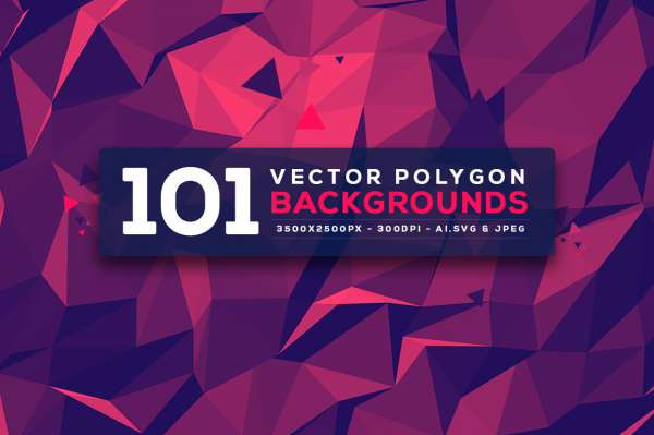 101 Vector Polygon Backgrounds V.3 (311 файлов)