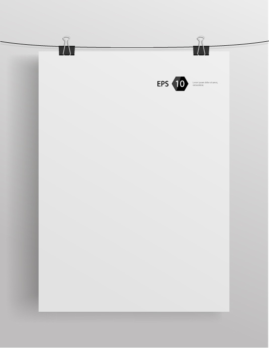 Vector mock-up illustration: blank sheet of paper (51 файлов)