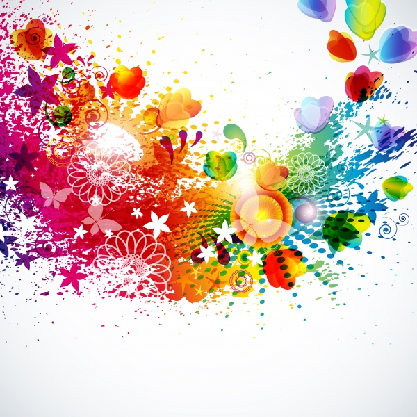 Bright colorful abstract backgrounds vector - 16 (50 файлов)