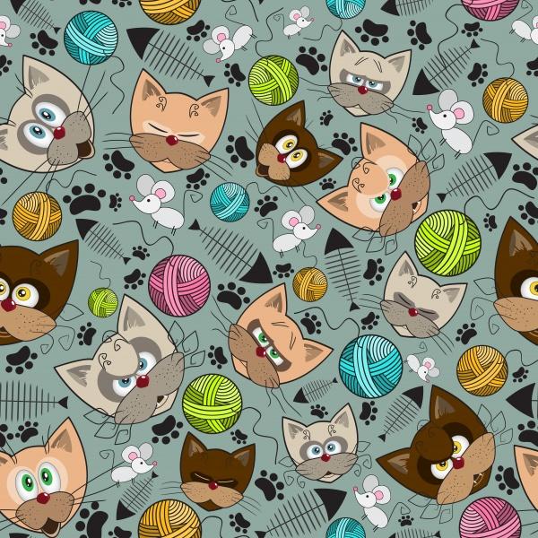 Детские паттерны. Кошки и мышки #1 (10 файлов)