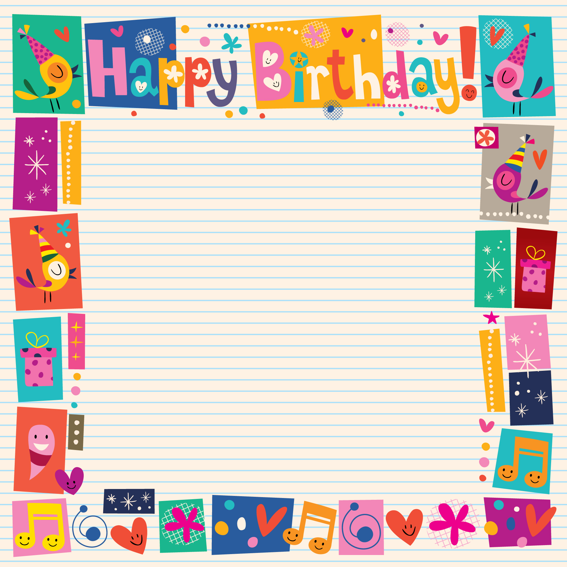 Birthday Frame Free Vector Art  7105 Free Downloads