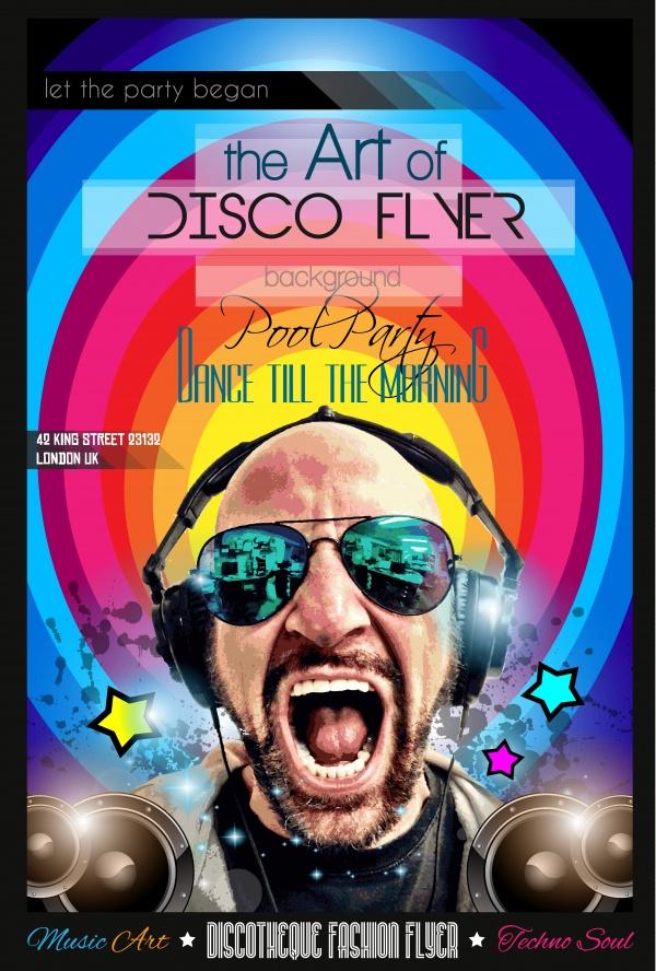 Disco Night Club Flyer - 20 EPS #1 (23 файлов)