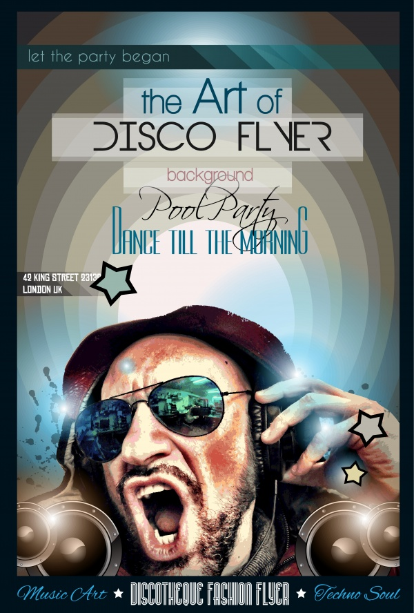 Disco Night Club Flyer - 20 EPS #1 (23 файлов)