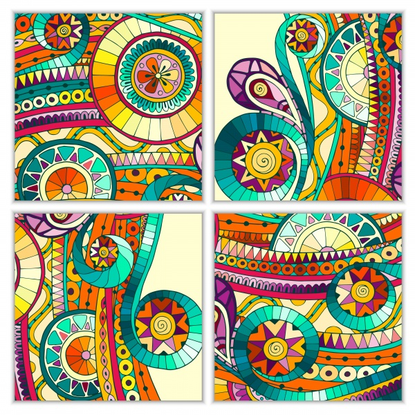 Ethnic Pattern Card And Banner - 25 Vector #1 (29 файлов)