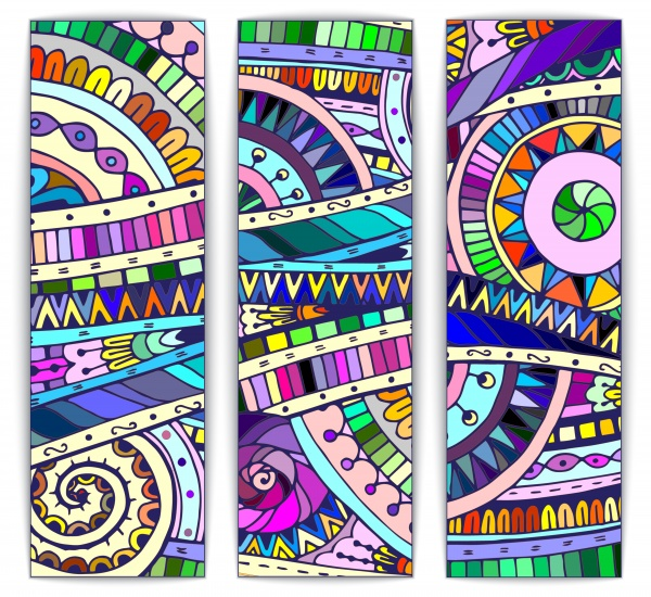 Ethnic Pattern Card And Banner - 25 Vector #2 (22 файлов)