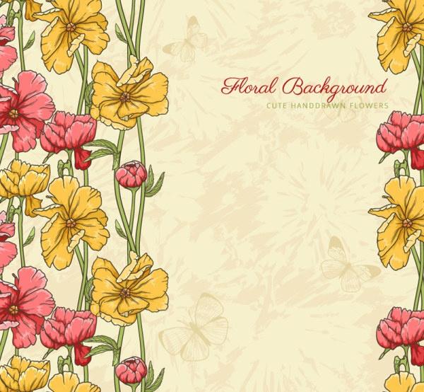 Excellent floral vector backgrounds #2 (32 файлов)