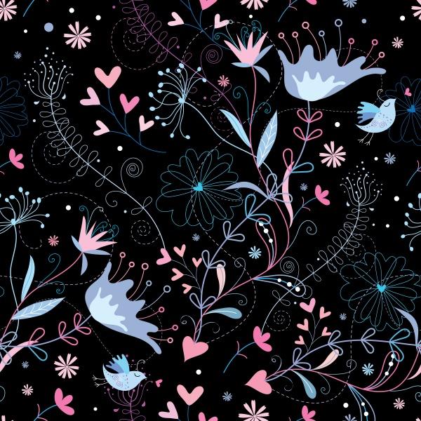 Векторные фоны с цветочными узора | Vector backgrounds with floral patterns (30 файлов)