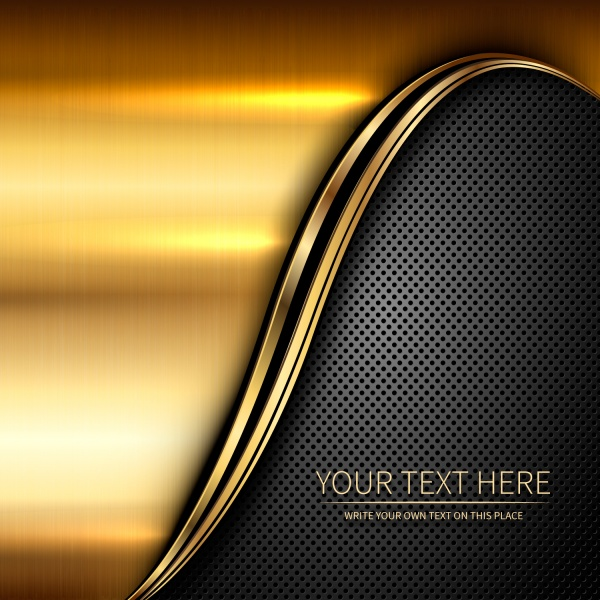 Gold stylish backgrounds vector graphics #3 (15 файлов)