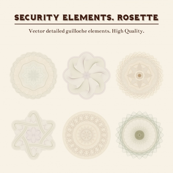 Guilloche Elements 3 (51 файлов)