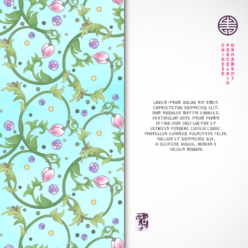 Lotus flowers and leaves are painted by watercolor background. Imitation of chinese porcelain painting #2 (22 файлов)