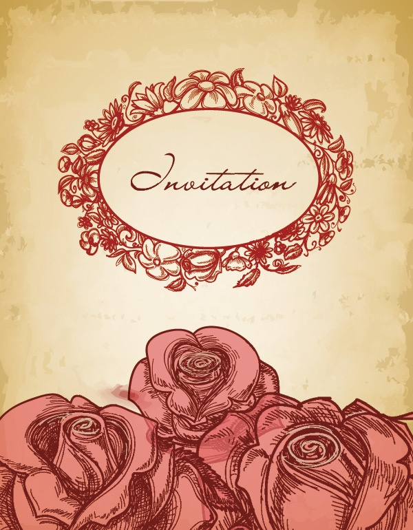 Romantic vector background with flowers-6 #2 (28 файлов)