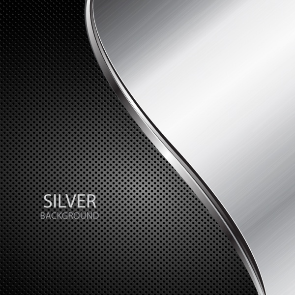 Silver metal vector backgrounds #2 (12 файлов)