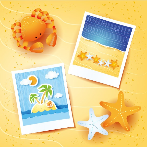 Stock vector summer backgrounds #2 (26 файлов)