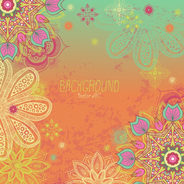 Backgrounds with floral designs (10 файлов)