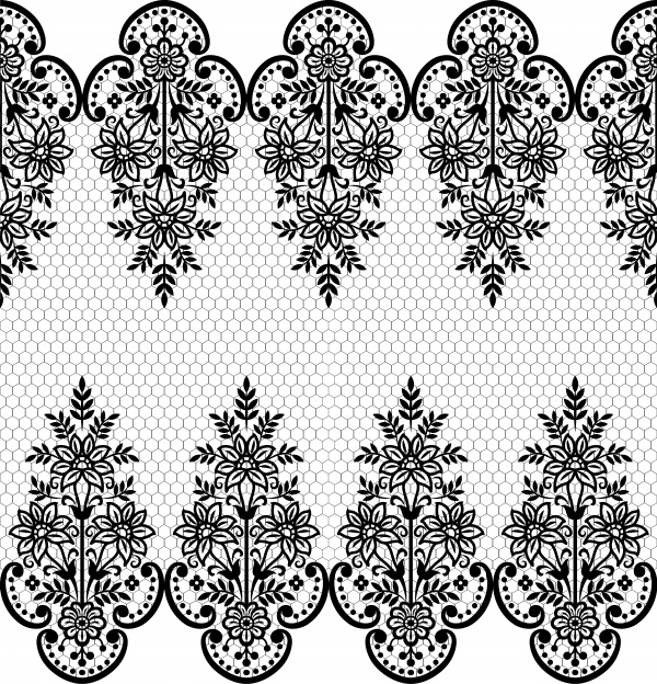 Lace black seamless pattern (20 файлов)