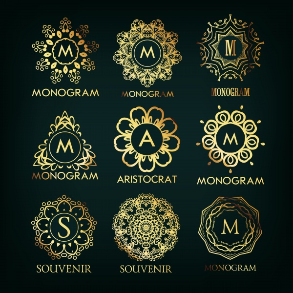 Elegant monogram designs template (13 файлов)