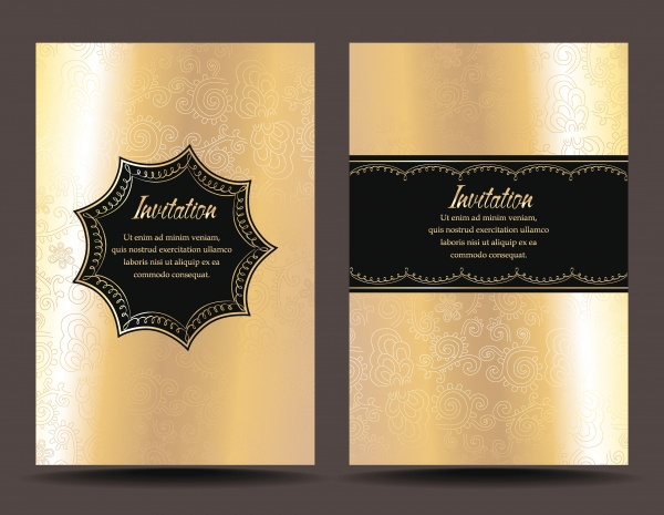 Вип карточки с золотым и серебряным декор | VIP card in gold and silver elements #1 (29 файлов)