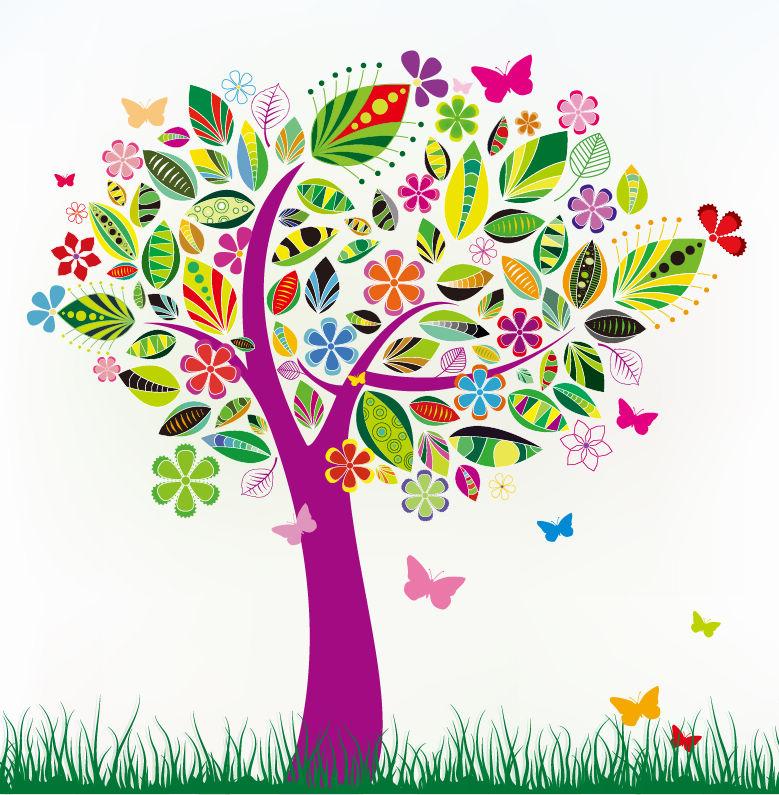 Картинка узорами дерева с