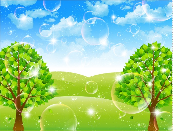 Vector backgrounds with Beautiful nature - 2 (53 файлов)