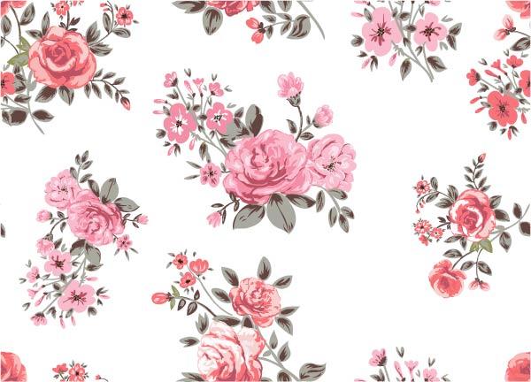 Rose flower pattern vector