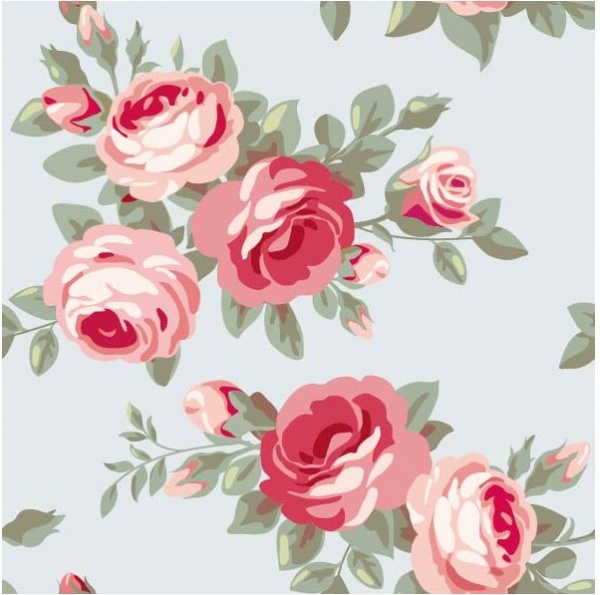 Vector Retro Flowers Seamless Textures #2 Цветочные текстуры #2 (50 файлов)
