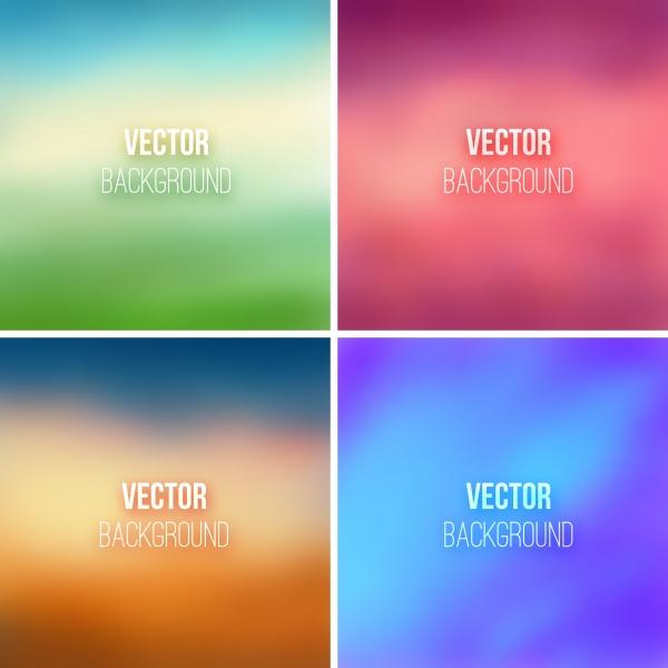 Размытые цветные фоны в векторе (50 файлов)