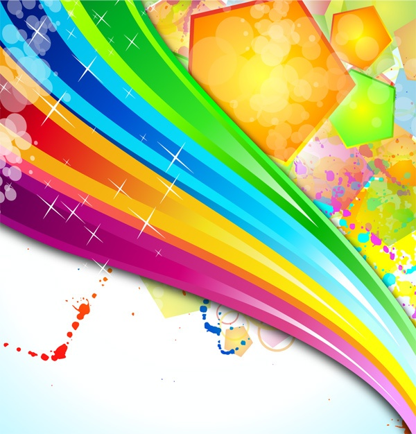 Bright colorful abstract backgrounds vector - 4 (54 файлов)