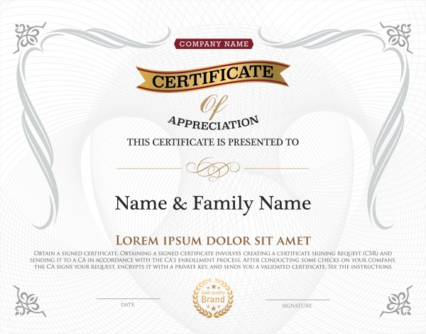 Шаблоны сертификатов | Templates of certificates (51 файлов)