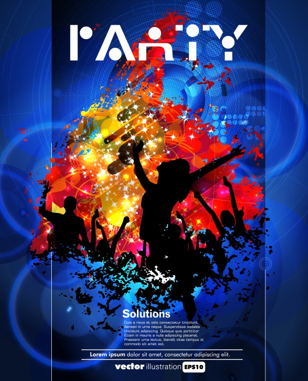 Диско вечеринка флаер брошюра и постер | Disco party flyer brochure and poster (52 файлов)