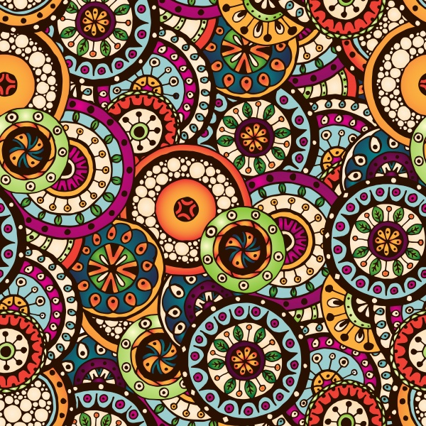 Ethnic pattern styles art backgrounds vector (57 файлов)