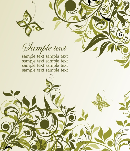 Floral backgrounds stock vector - 8 (52 файлов)