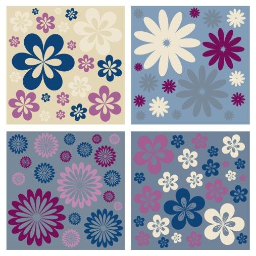 Floral patterns backgrounds stock vector - 6 (50 файлов)