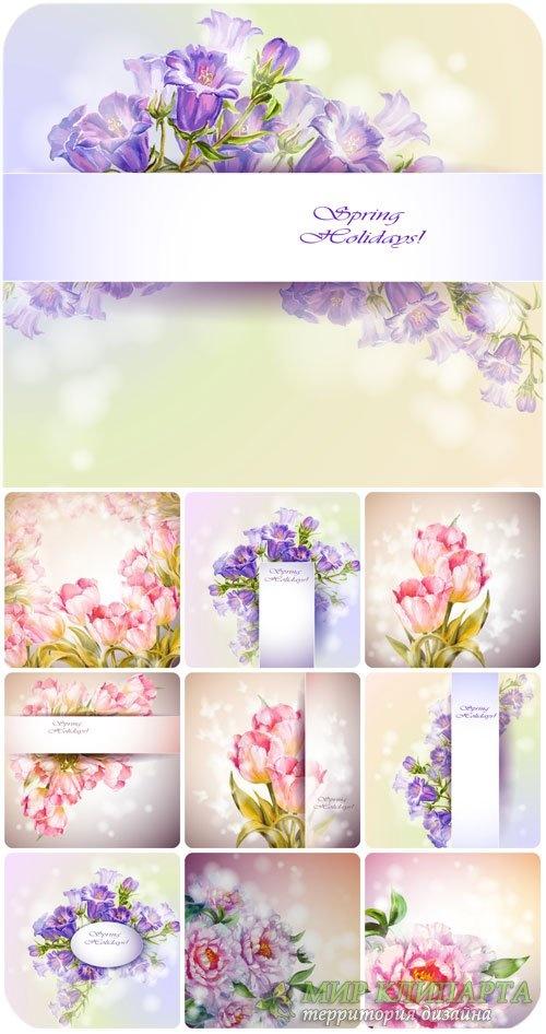 Винтажные цветочные фоны в векторе 3 (121 файлов)