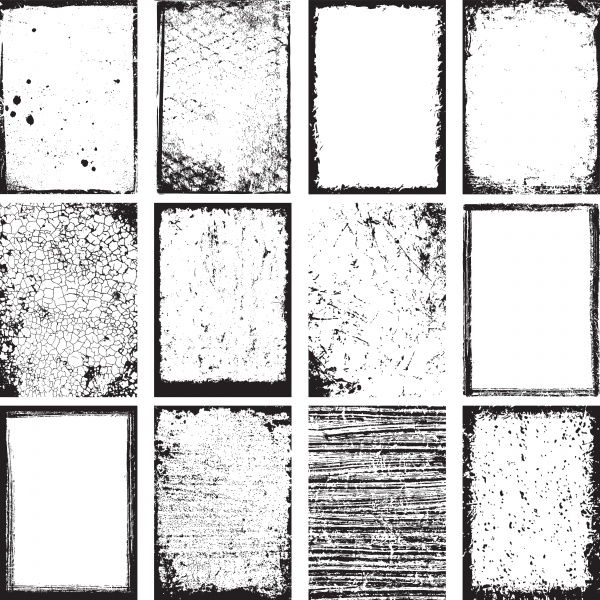 Гранжевые рамки  | Grunge frames (10 файлов)