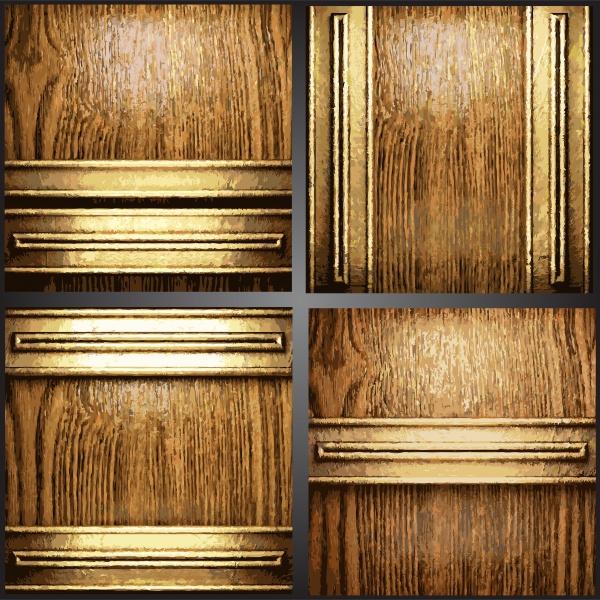 Металлические и деревянные фоны в векторе (50 файлов)