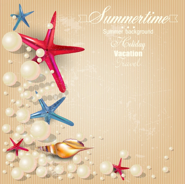 Recreation and sea summer backgrounds vector (53 файлов)