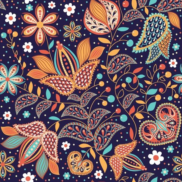 Floral seamless pattern (51 файлов)