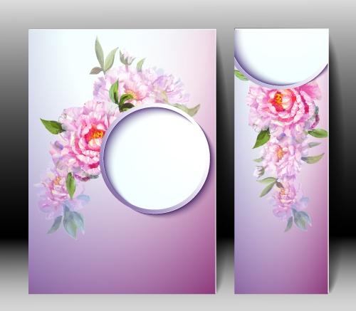 Пригласительные / Spring flowers invitation template card (14 файлов)