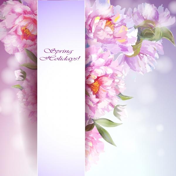 Тюльпаны, пионы, цветочные векторные фоны / Floral vector backgrounds (10 файлов)