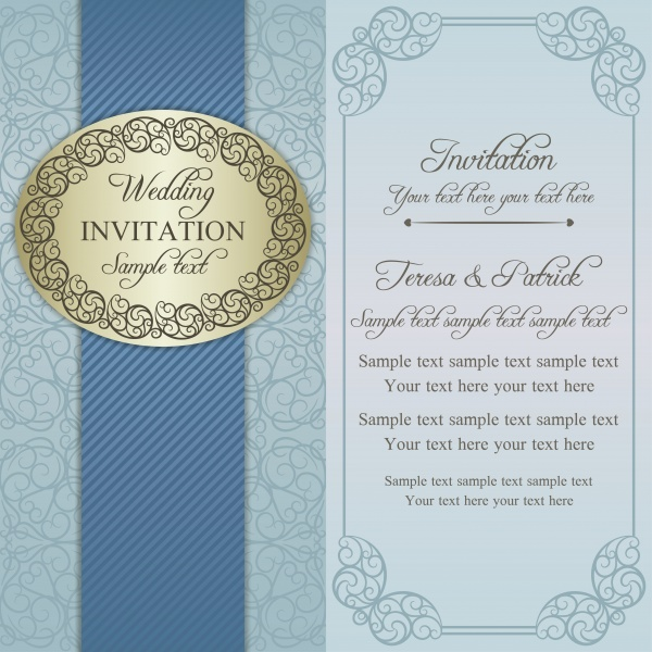 Invitation in vector vintage background with patterns (20 файлов)