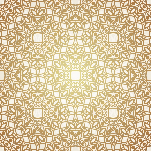 Golden patterns, vintage backgrounds vector #2 (10 файлов)