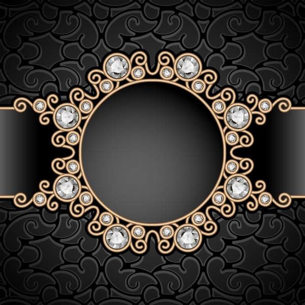 Black vintage background with gold decorative elements (21 файлов)