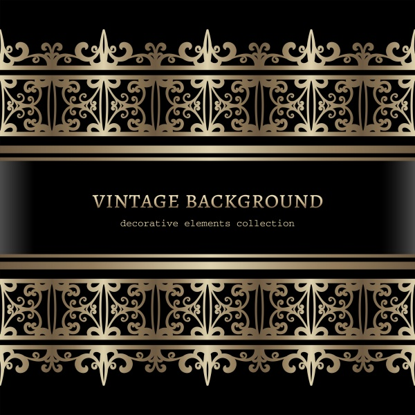 Vintage backgrounds vector, golden patterns and ornaments (25 файлов)