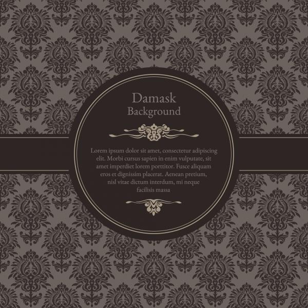 Vintage vector backgrounds, damask, classic, floral (17 файлов)