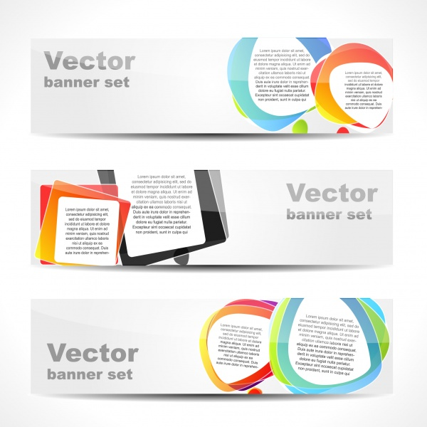 Векторные баннеры #10 (34 файлов)